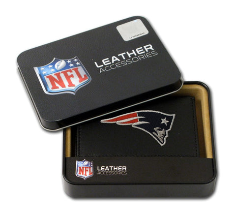 New England Patriots Wallet Trifold Leather Embroidered