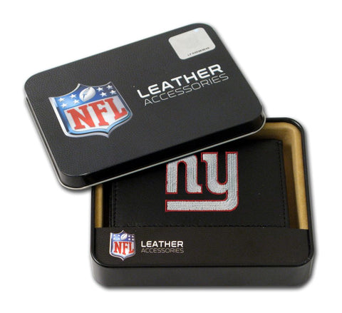 New York Giants Wallet Trifold Leather Embroidered