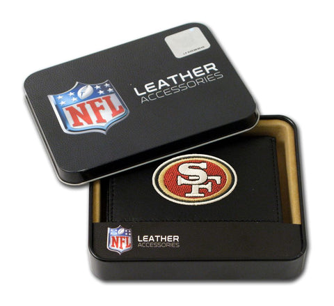 San Francisco 49ers Wallet Trifold Leather Embroidered