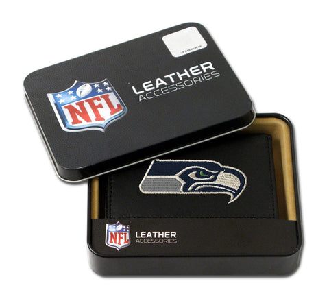 Seattle Seahawks Wallet Trifold Leather Embroidered