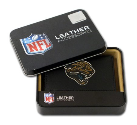 Jacksonville Jaguars Wallet Trifold Leather Embroidered