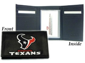 Houston Texans Wallet Trifold Leather Embroidered