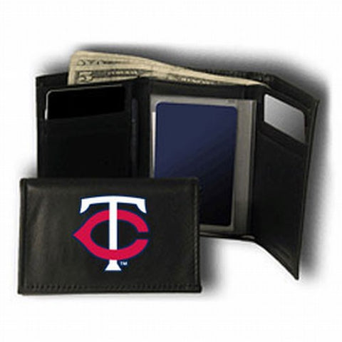 Minnesota Twins Wallet Trifold Leather Embroidered