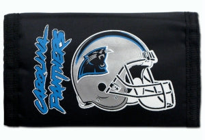 Carolina Panthers Wallet Nylon Trifold