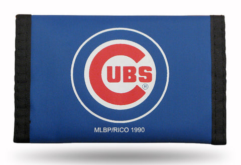 Chicago Cubs Wallet Nylon Trifold Blue