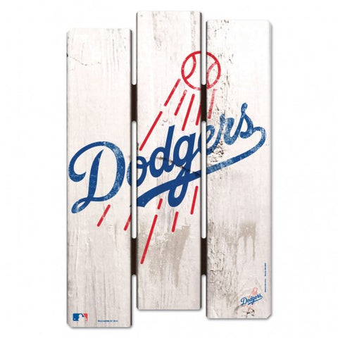 Los Angeles Dodgers Sign 11x17 Wood Fence Style
