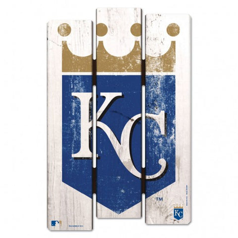 Kansas City Royals Wood Fence Sign