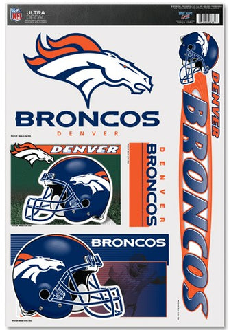 Denver Broncos Decal 11x17 Ultra