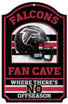 "Atlanta Falcons Wood Sign - 11""x17"" Fan Cave Design"