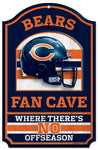 "Chicago Bears Wood Sign - 11""x17"" Fan Cave Design"
