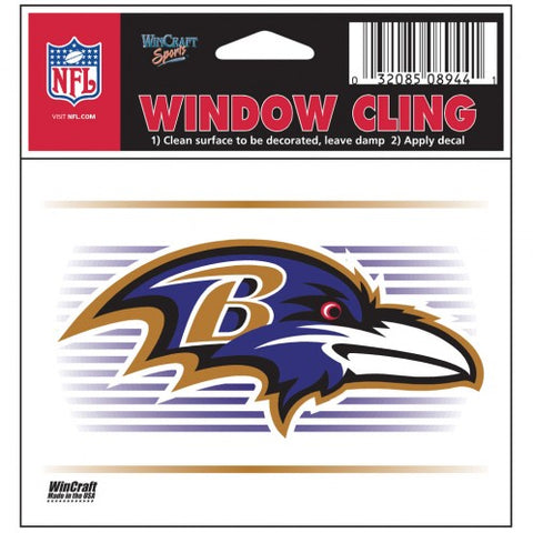 "Baltimore Ravens 3""x3"" Static Cling"