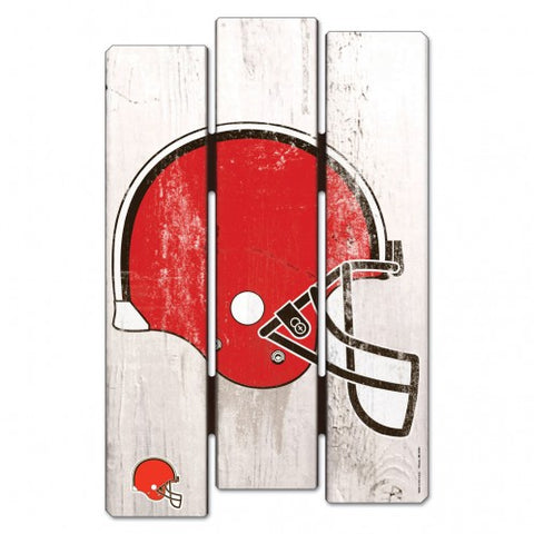 Cleveland Browns Wood Fence Sign