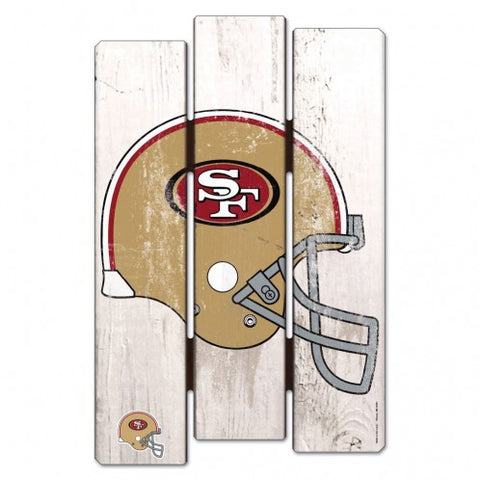 San Francisco 49ers Wood Fence Sign