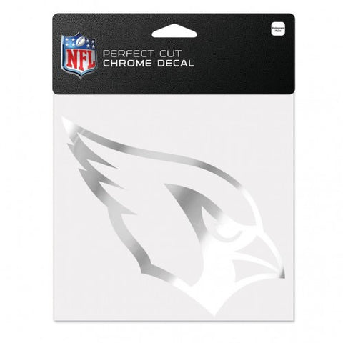 Arizona Cardinals Decal 6x6 Perfect Cut Chrome