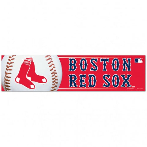 Boston Red Sox Bumper Sticker - Red Background