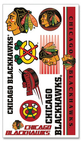 Chicago Blackhawks Temporary Tattoos