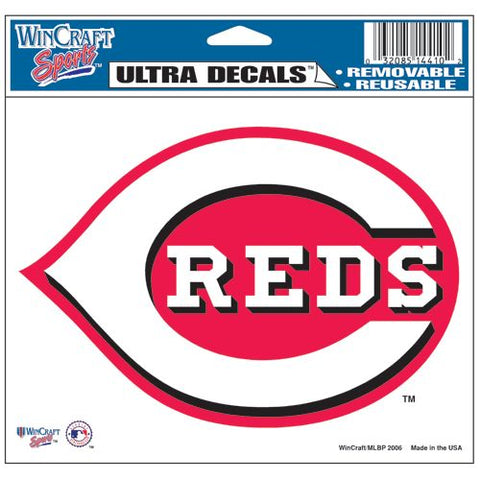 Cincinnati Reds Decal 5x6 Ultra Color