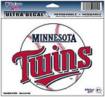 Minnesota Twins Decal 5x6 Ultra Color
