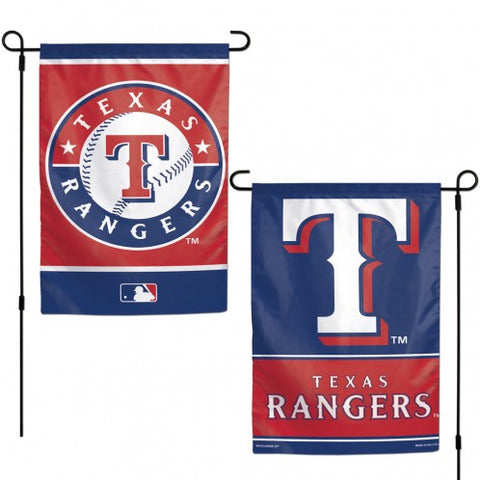 Texas Rangers Flag 12x18 Garden Style 2 Sided