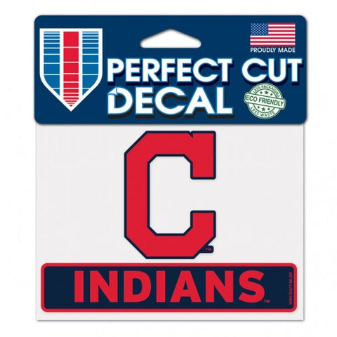 Cleveland Indians Decal 4.5x5.75 Perfect Cut Color