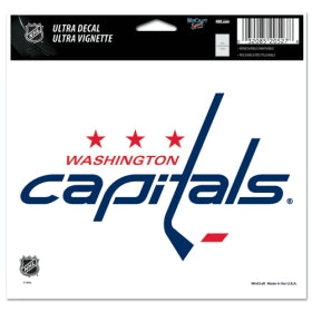 Washington Capitals Decal 5x6 Ultra Color
