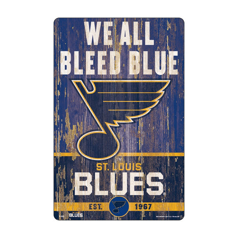 St. Louis Blues Sign 11x17 Wood Slogan Design