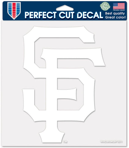 San Francisco Giants Decal 8x8 Die Cut White