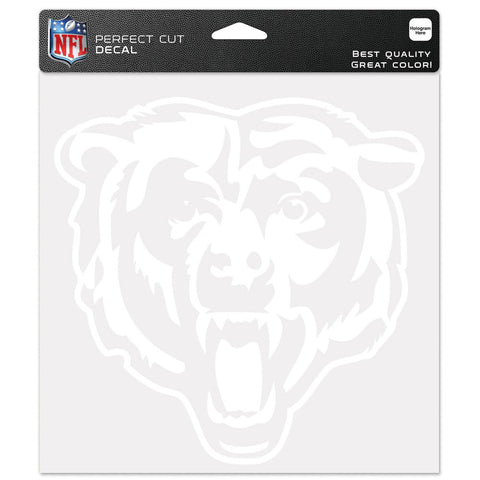 Chicago Bears Decal 8x8 Die Cut White