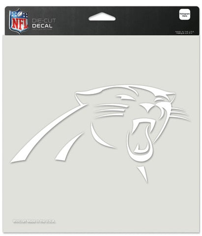 Carolina Panthers Decal 8x8 Die Cut White
