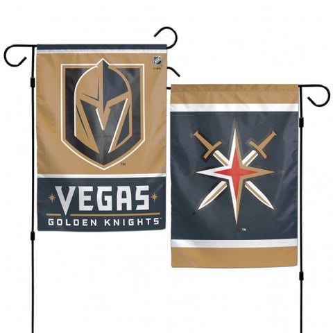 Vegas Golden Knights Flag 12x18 Garden Style 2 Sided