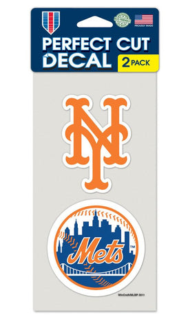 New York Mets Set of 2 Die Cut Decals