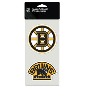Boston Bruins Set of 2 Die Cut Decals