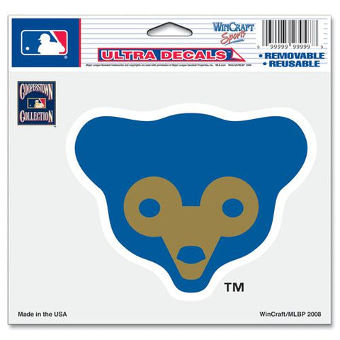 Chicago Cubs Decal 5x6 Ultra Color Bear Logo