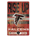 Atlanta Falcons Sign 11x17 Wood Slogan Design