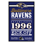 Baltimore Ravens Sign 11x17 Wood Established Design