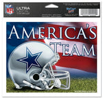 Dallas Cowboys Decal 5x6 Ultra Color America's Team
