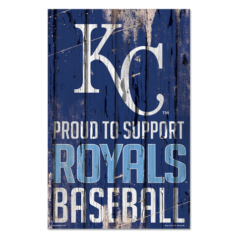 Kansas City Royals Sign 11x17 Wood Proud to Support Design