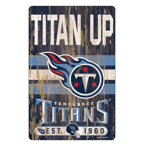 Tennessee Titans Sign 11x17 Wood Slogan Design
