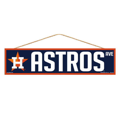 Houston Astros Sign 4x17 Wood Avenue Design