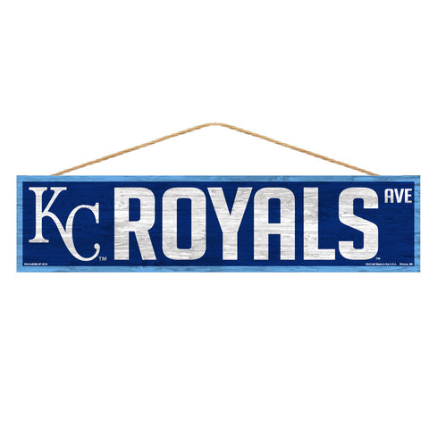 Kansas City Royals Sign 4x17 Wood Avenue Design