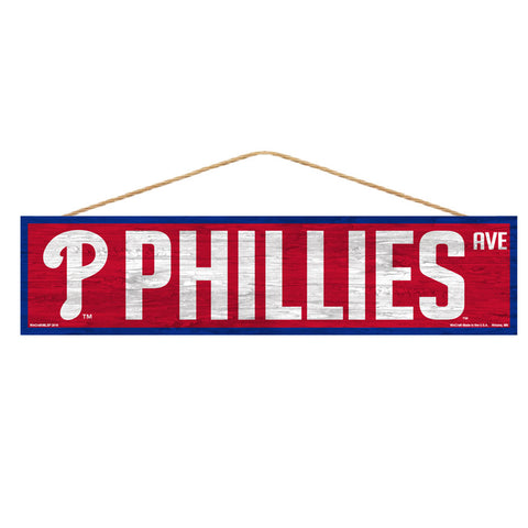 Philadelphia Phillies Sign 4x17 Wood Avenue Design
