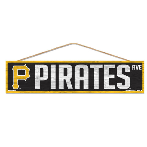 Pittsburgh Pirates Sign 4x17 Wood Avenue Design