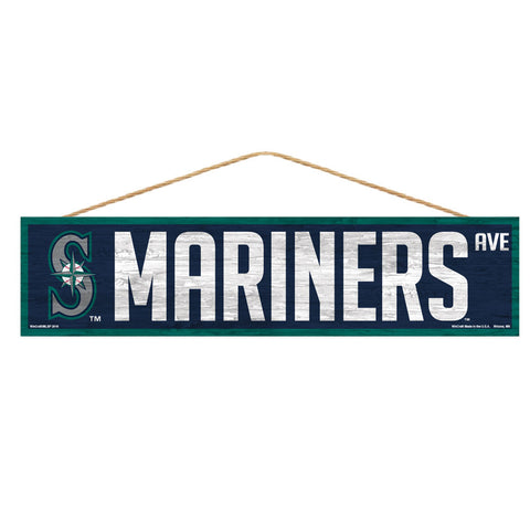 Seattle Mariners Sign 4x17 Wood Avenue Design