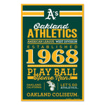 Oakland Athletics Sign 11x17 Wood Established Design