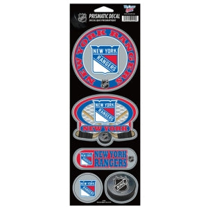 New York Rangers Stickers Prismatic