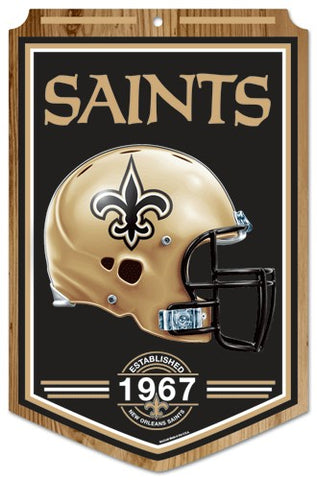 "New Orleans Saints Wood Sign - 11""x17"" Established Design"