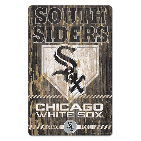Chicago White Sox Sign 11x17 Wood Slogan Design