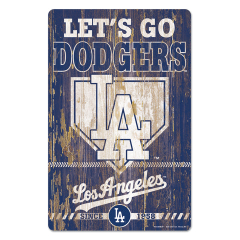 Los Angeles Dodgers Sign 11x17 Wood Slogan Design