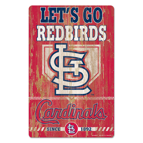 St. Louis Cardinals Sign 11x17 Wood Slogan Design
