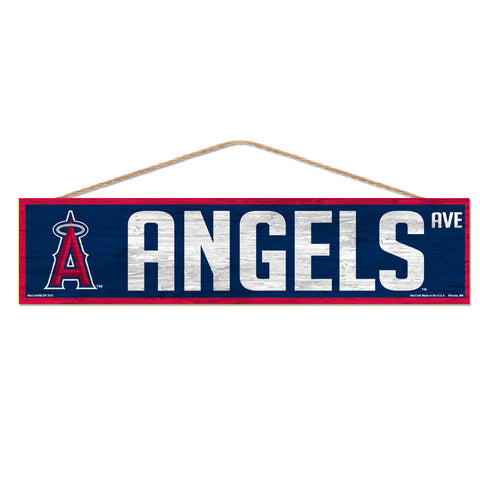 Los Angeles Angels Sign 4x17 Wood Avenue Design